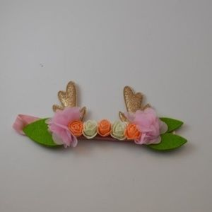 Other - Baby Girl Floral Antler Headband